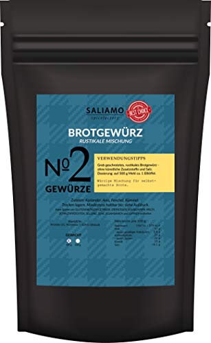 Saliamo Brotgewürzmischung - rustikales Brot - aus Koriander, Anis,...