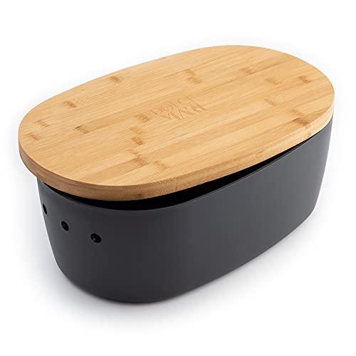 DOLCE MARE Bambus Brotbox - Hübscher Brotkasten - extrem praktischer...