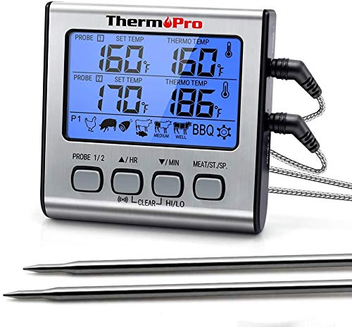 ThermoPro TP17 Digitales Grill-Thermometer Bratenthermometer...