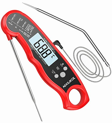 NIXIUKOL Digital Fleischthermometer Grillthermometer Bratenthermometer mit...